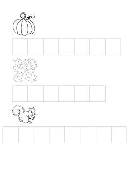 autumn word building