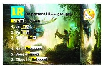 avoir, etre, er, ir, re verb conjugations posters
