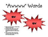 """aw"" Phonics Stars"