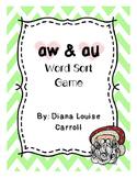 aw and au word sort phonics christmas