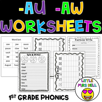 aw au Word Work Pack