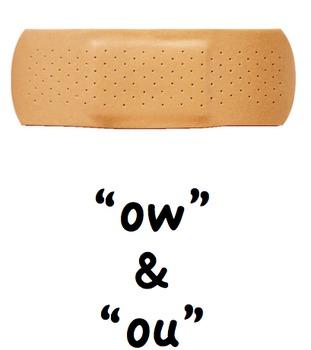 """""""aw, ow, ou and ew"""" sounds"""