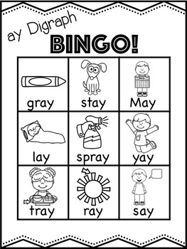 ay Vowel Digraph Mega Bundle! [11 no-prep games and activities]