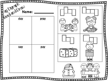ay Vowel Digraph Read-and-Draw