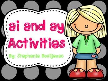 ay and ai (Long A Activities)