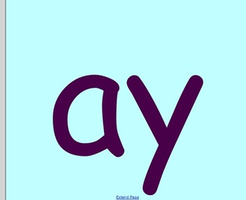 ay blend/word family