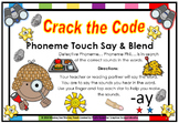 ay  word Family Phonemes Crack the Code Chant and Cards