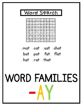 ay word family (no prep)