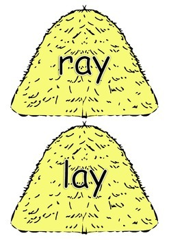 ay word family posters
