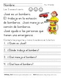 ayudantes de la comunidad, community helpers, close reading