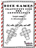 /b/ Articulation Dice Craft - initial, medial, & final