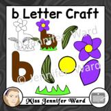 b Letter Craft Template Clip Art