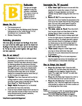 /b/ Production Handout for Parents