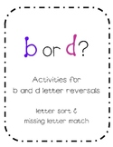 b and d Letter Reversal Activities