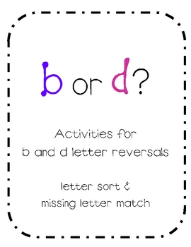 b and d letter reversal activities by sheena phebus tpt. Black Bedroom Furniture Sets. Home Design Ideas