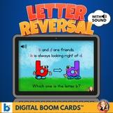 b and d Letter Reversal Digital Task Cards