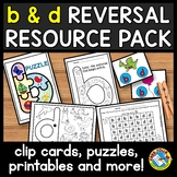b and d REVERSAL WORKSHEETS AND ACTIVITIES KINDERGARTEN, 1ST GRADE HOME LEARNING