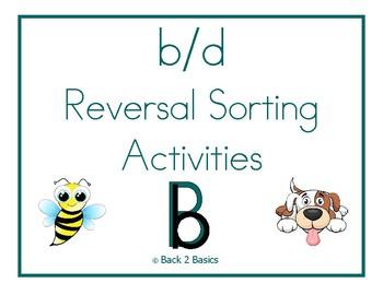 b and d Reversal Sorting Activities - b and d Reversal Activities