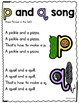b and d Song AND p and q Song--Helping Children Learn the Difference!