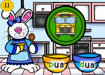 b and d confusion Power Point Game (Bunny theme)