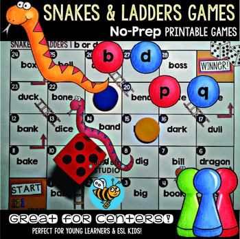 b and d, p and q Game: Snakes and Ladders