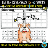b and d sorts | Cut and Paste Worksheets