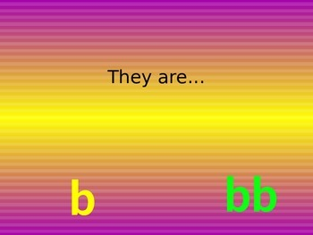 b bb alternate spelling of the same sound