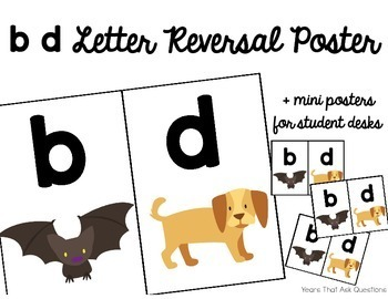 b d Letter Reversal Poster and Mini-Posters