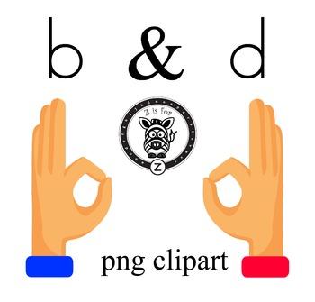 b & d hand clipart