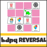 b d p and q Reversal Activities Playing Cards