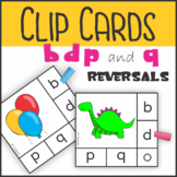 b d p and q Reversal Self Checking Clip Cards