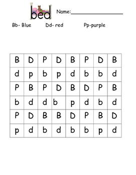 b d p recognition (coloring)