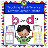 B or D - Teaching the difference between similar letters!