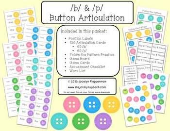 /b/ & /p/ Button Articulation