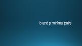 b-p minimal pairs
