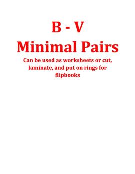 b - v minimal pairs