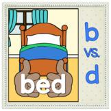"""b vs. d Visual Discrimination Poster """"bed"""""""