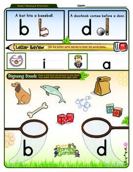 b vs. d Worksheet