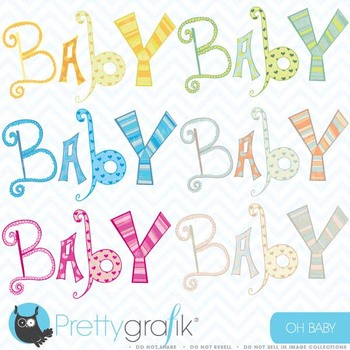baby alphabet letter clipart commercial use, vector graphi