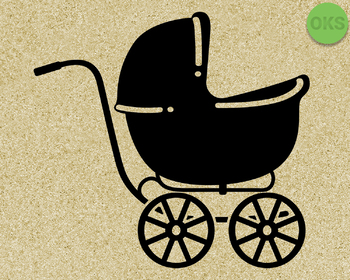 baby carriage SVG cut files, DXF, vector EPS cutting file instant download