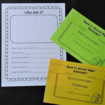 Back to School Night EDITABLE Activities and Meet the Teacher Sign in Sheet