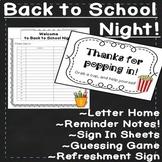 Classroom Decor for Back to School Night EDITABLE Activities & Meet the Teacher