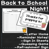 Back to School Night EDITABLE Activities and Meet the Teac