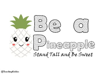 Back To School Pineapple Coloring Page Mindset Activity By