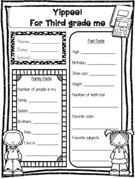 back to school activities 3rd grade