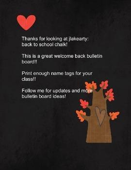 back to school chalk bulletin board