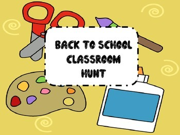 back to school classroom hunt-hands on activity