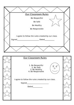 back to school classroom rules contract