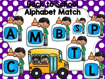 back to school letter match