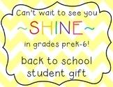 back to school student gift FREEBIE! - glow sticks!